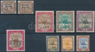 1897-1921 8 diff (9 pcs) stamps 1897-1921 8 klf (9 db) bélyeg