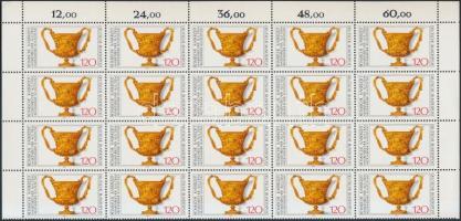 1976 Régészeti kulturális javak sor záróértéke ívsarki 20-as tömbben Mi 900