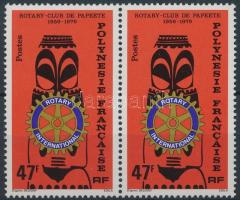 Rotary bélyeg párban, Rotary stamp in pair