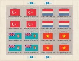 Flags (I.) mini sheet set, Zászlók (I.) kisív sor