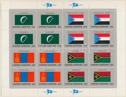 Flags (VIII.) mini sheet set, Zászlók (VIII.) kisív sor