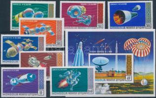 1971 Űrkutatás sor Mi 618-625 + blokk 24