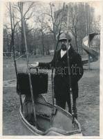 Egyed Péter (1954-) magyar költő, író, filozófus és kritikus fotója, 24x18cm