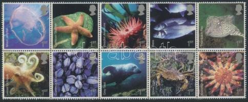 Marine animals block of 10, Tengeri állatok tízestömb