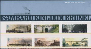 2006 Isambard Kingdom Brunel sor Mi 2385-2390 díszcsomagolásban