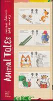 Children's books animal figures 4 pairs in decorative packaging, Gyermek könyvek állat figurái 4 pár dísz csomagolásban