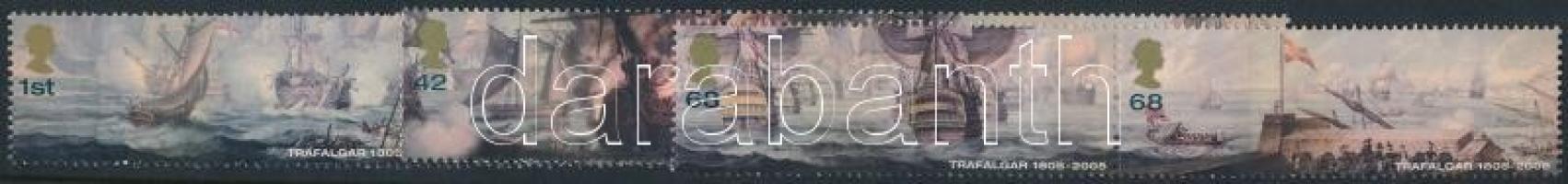 2005 A trafalgári csata 200. évfordulója 3 pár Mi 2348-2353