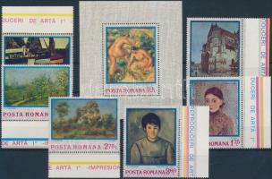 Centenary of impressionism margin set + block, 100 éves az impresszionizmus ívszéli sor + blokk
