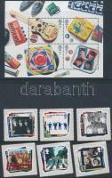 2007 Beatles öntapadós sor Mi 2474-2479 + blokk Mi 34
