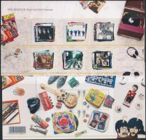 2007 The Beatles öntapadós sor Mi 2474-2479 + blokk Mi 34 díszcsomagolásban