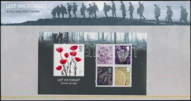 2006 Somme-i csata blokk Mi 33 díszcsomagolásban