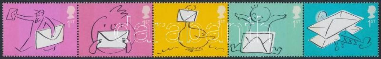 2004 Üdvözlő bélyegek: boríték ötöscsík Mi 2180-2184