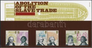 2007 A rabszolga kereskedelem eltörlése 3 pár Mi 2508-2513 díszcsomagolásban