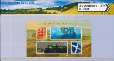 Scotland National Day Block in decorative holder, Skócia Nemzeti ünnep blokk díszcsomagolásban