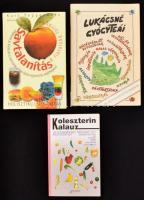 Vegyes egészség-életmód könyv tétel, összesen 3 kötet.