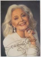 Gwyneth Jones(1936-) angol énekesnő(drámai szoprán) aláírása az őt ábrázoló fotón /autograph signature