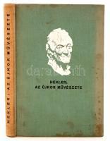 Hekler Antal: Az újkor művészete, Bp., 1931, Magyar Könyvbarátok kiadása. Kiadói egészvászon-kötésben.