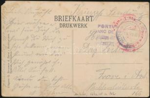 Censored postcard of German internee to Germany, Német internált képeslapja Németországba cenzúrázva