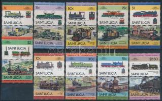 1984-1985 Locomotives (II+IV) sets 6-4 pairs, 1984-1985 Mozdonyok (II+IV) sorok 6-4 párban