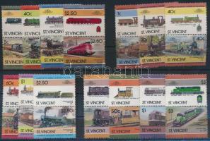 Locomotives (III-IV, VI) 3 sets in pairs, 1984-1986 Mozdony (III-IV, VI) 3 sor párokban