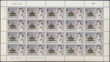 Queen Mother incineration mini sheet, Az anyakirálynő hamvasztása kisív