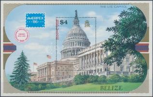 1986 Nemzetközi bélyegkiállítás AMERIPEX blokk Mi 82