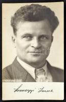 cca 1930 Somogyi Imre írót ábrázoló fotólap. Bérci László fotója