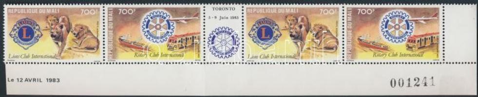 1983 Rotary sor ívközéprészes ívsarki 4-es csík Mi 962-963