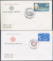 1955-1995 Rotary motívum 4 db FDC
