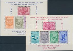 1955 Rotary sor Mi 1086-1100 + blokk 41-42