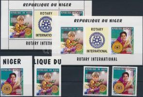 1980 Rotary fogazott és vágott sor Mi 1205-1206 + fogazott és vágott blokk