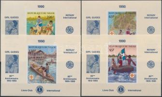 1982 Rotary vágott sor blokk formában Mi 796-799