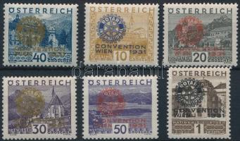 1931 Rotary sor Mi 518-523