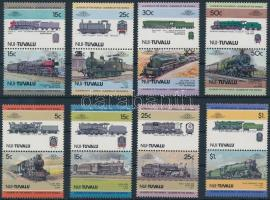 1984-1985 Mozdony (I-II) 2 sor 4-4 párban Locomotives (I-II) 2 set 4-4 pairs