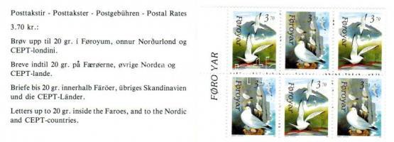 Birds stamp booklet, Madarak bélyegfüzet, Vögel Markenheftchen