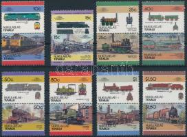 Mozdony (IV) sor 7 párban + 2 bélyeg Locomotives (IV) set 7 pairs + 2 stamp