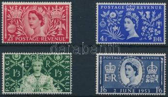 1953 II. Erzsébet királynő sor Mi 274-277
