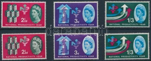 1962 Nemzeti termelékenység 2 klf sor Mi 351-353 x-y