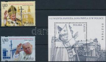 Pope John Paul II.  set + block, II. János Pál Pápa sor + blokk