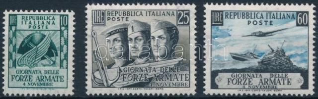 1952 Az olasz hadsereg napja Mi 871-873