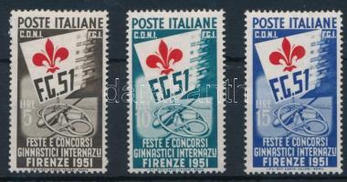 1951 Nemzetközi gimnasztikai játékok sor Mi 834-836