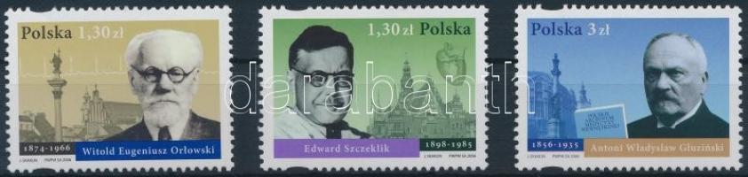 2006 100 éves a Lengyel Belgyógyásztársaság sor Mi 4253-4255