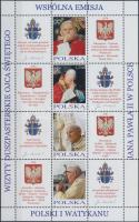 2004 II. János Pál pápa kisívsor Mi 4109-4116