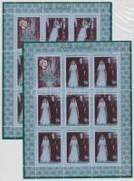 The royal couple silver jubilee 2 mini sheet, A királyi pár ezüst lakodalma 2 db kisív