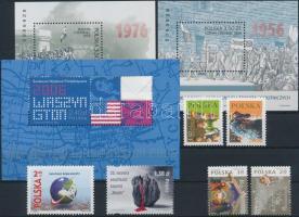 2006 6 db bélyeg közte sorokkal + 3 db blokk Mi 170, 172, 173