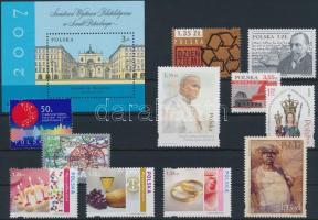 11 stamps + 1 block, 11 db bélyeg közte egy sor + 1 blokk