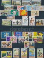 1973-1974 1 stamp + 7 sets, 1973-1974 1 bélyeg + 7 klf sor