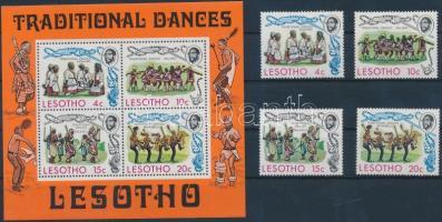 Traditional dance set + block, Tradicionális tánc sor + blokk