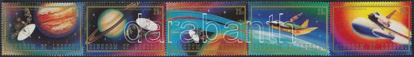 Űrrepülés ötöscsík + blokk, Spaceflight stripe of 5 + block