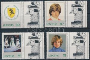 1982 Diana hercegnő születésnapja szelvényes sor Mi 393-396 C